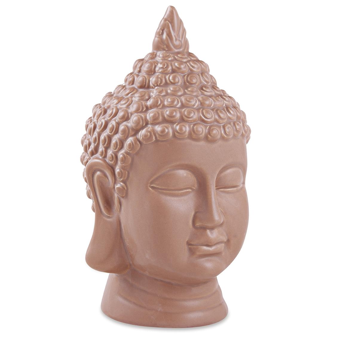 Escultura Buda Terracota em Ceramica 23cm