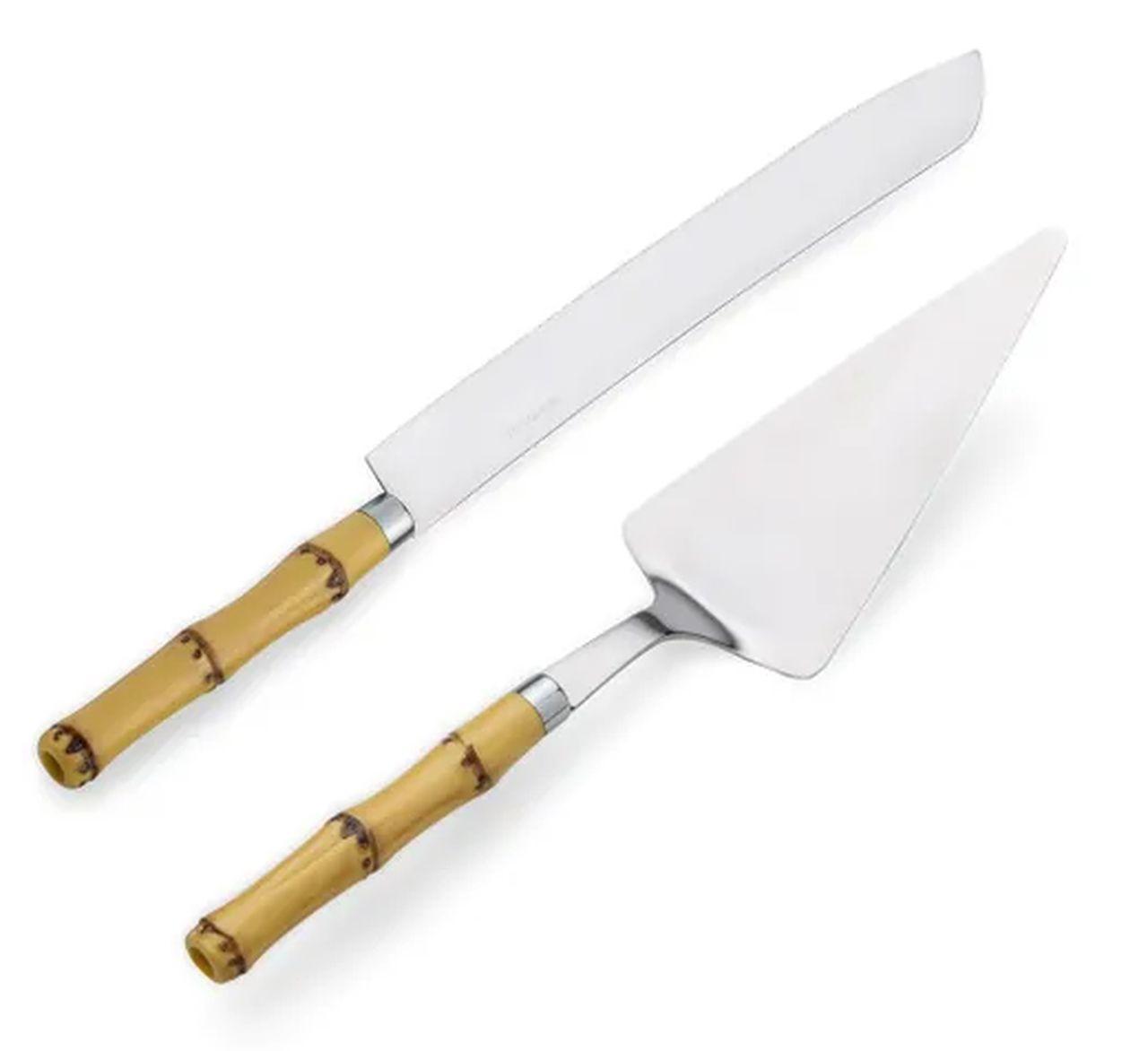 Faca para Pão de Bambu e Aço Inox