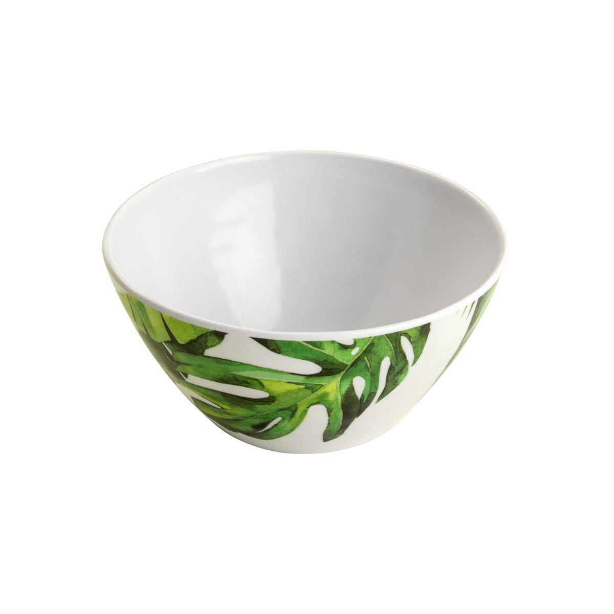 Jg 02 Bowls Folhas de Melamina 15cm
