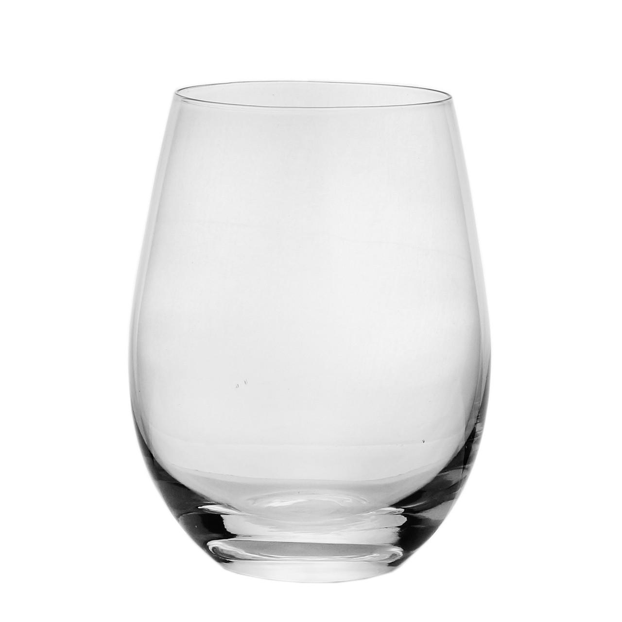 Jg 06 Copos Baixo Vinho de Vidro Transparente 535ml