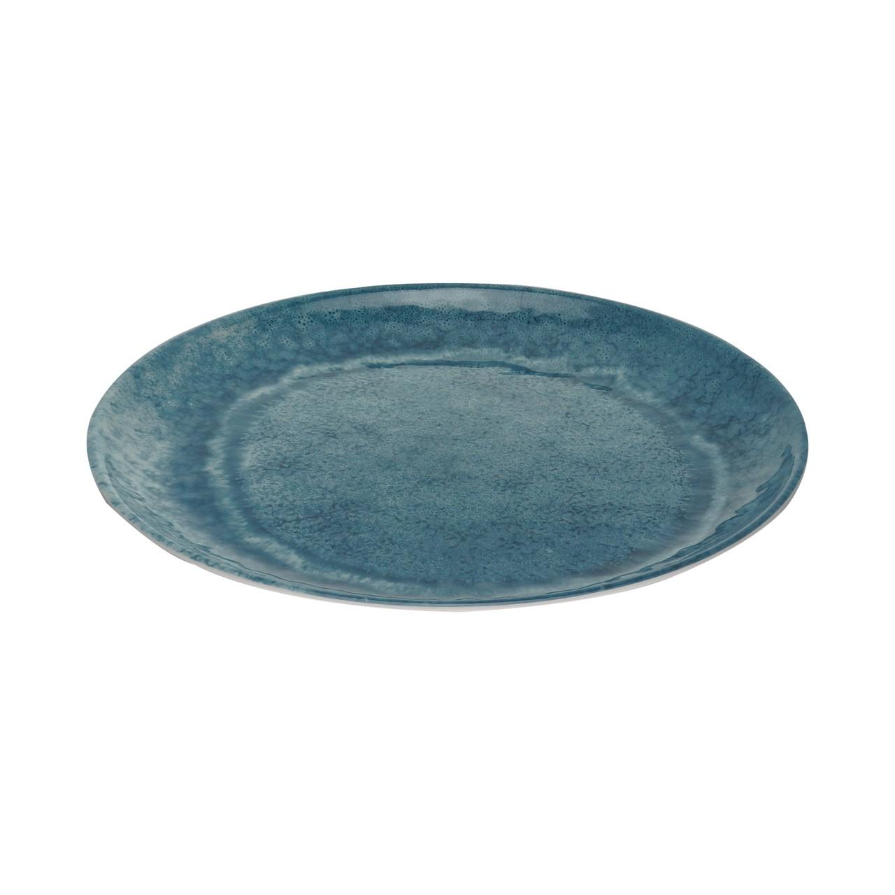 Jg 06 Pratos Raso Aqua Azul de Melamina