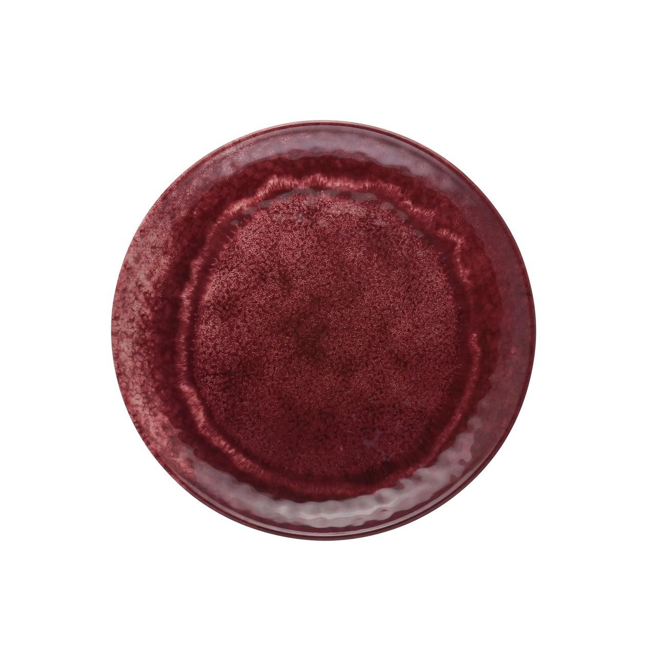 Jg 06 Pratos Raso Aqua Vermelho de Melamina