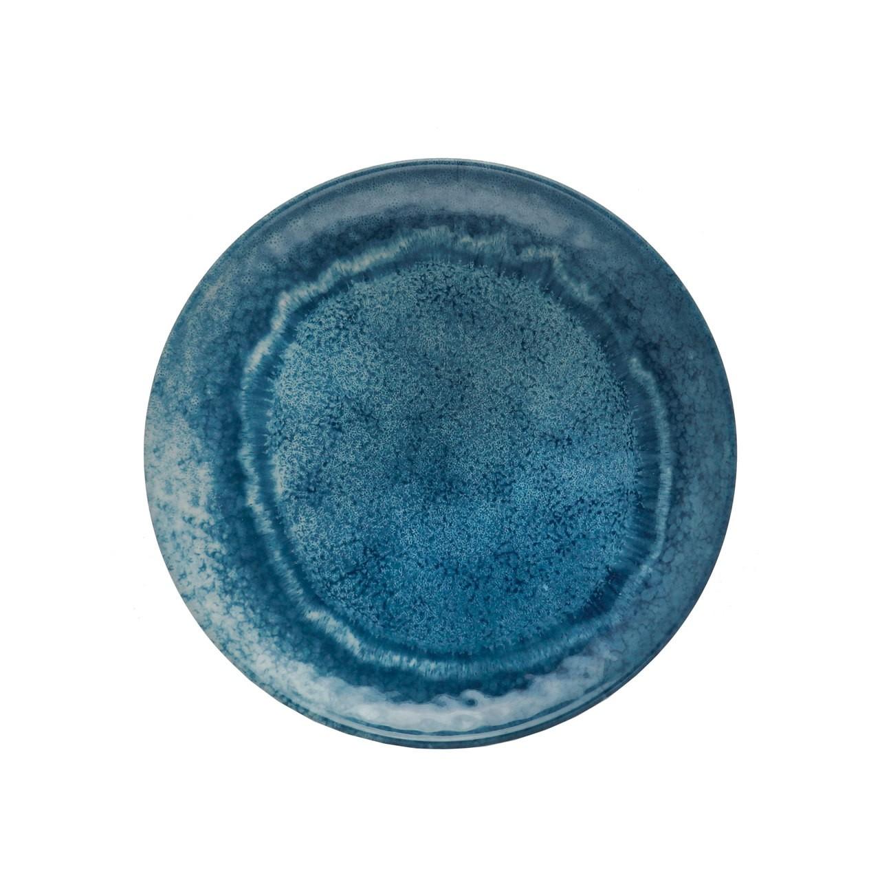 Jg 06 Pratos Sobremesa Aqua Azul de Melamina