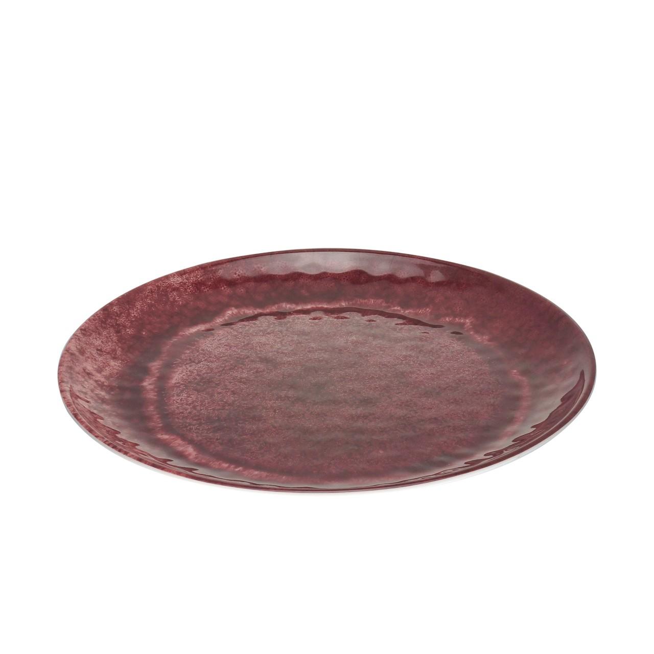 Jg 06 Pratos Sobremesa Aqua Vermelho de Melamina