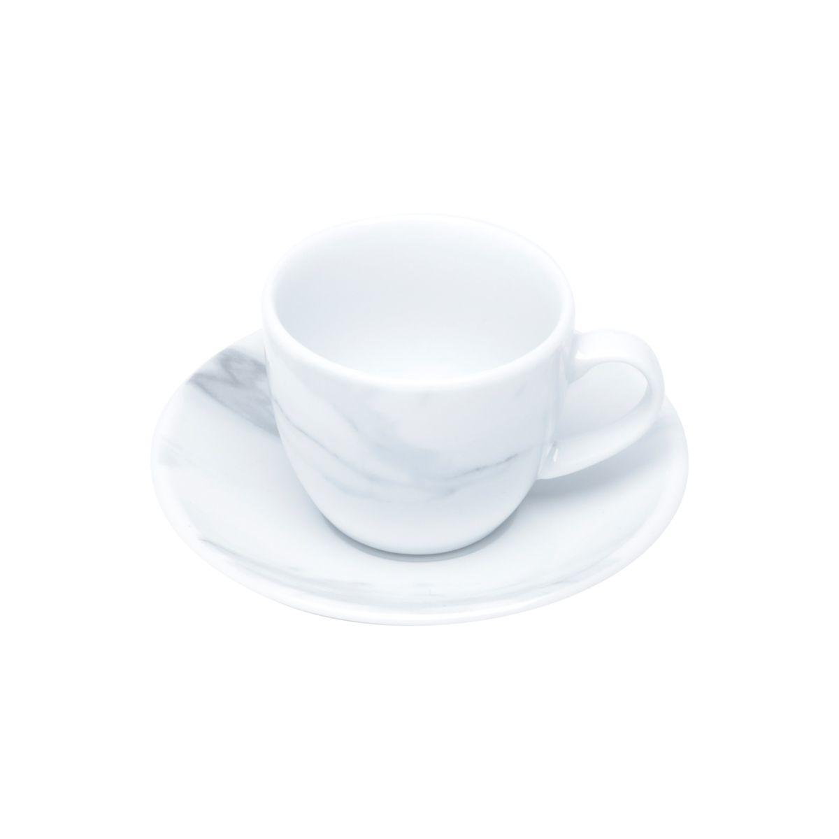 Jg 06 Xícaras de Café Calacata de Porcelana Wolff