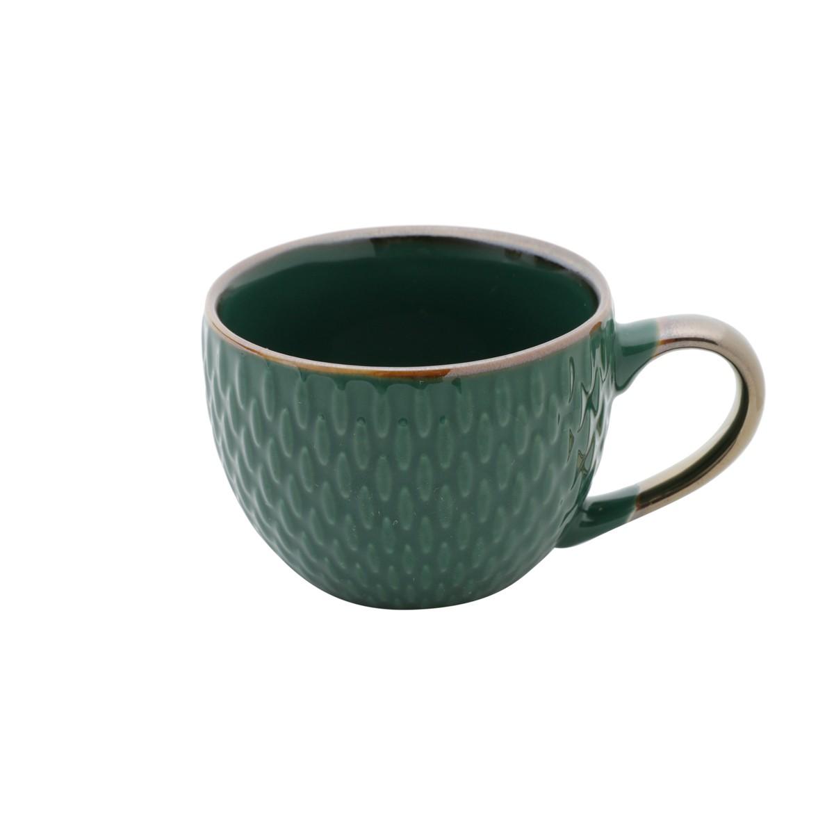 Jg 06 Xicaras de Cafe Verde de Porcelana 90ml