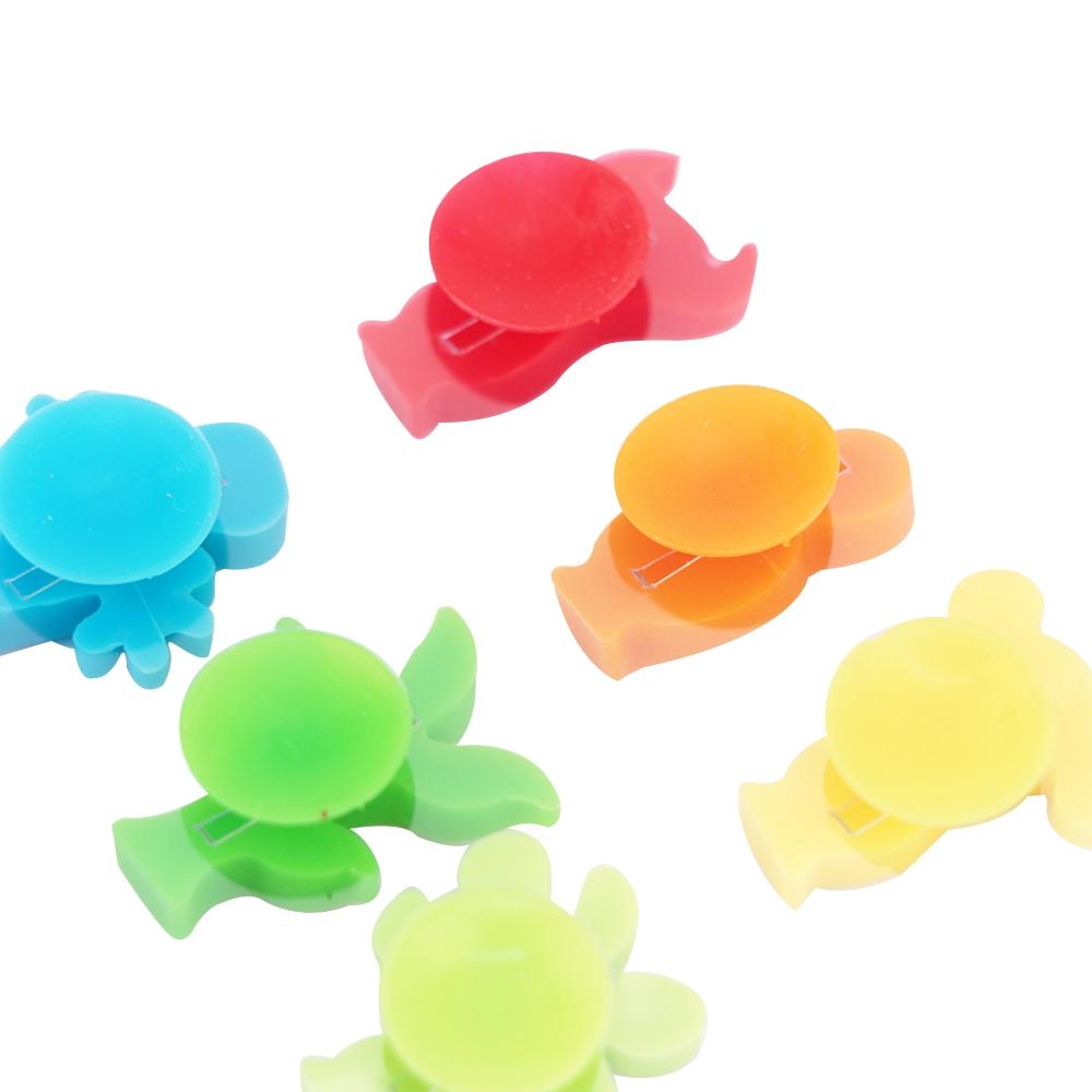 Jg 12 marcadores de taças de silicone colorido