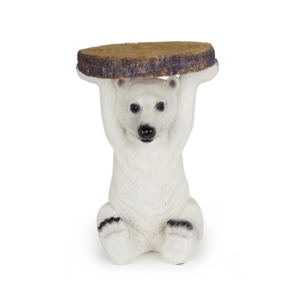 Mesa Urso Polar Branco G de Resina