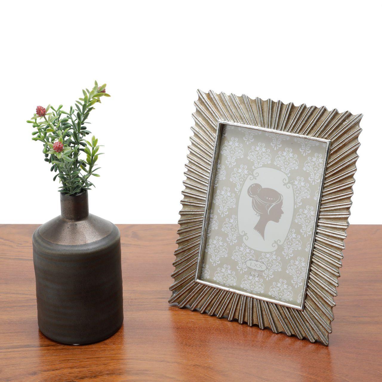 Porta Retrato de Metal Rustico 13x18cm