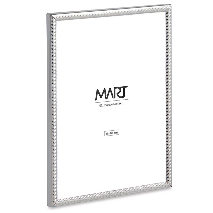 Porta Retrato Prata de Metal Ondulado 15x20