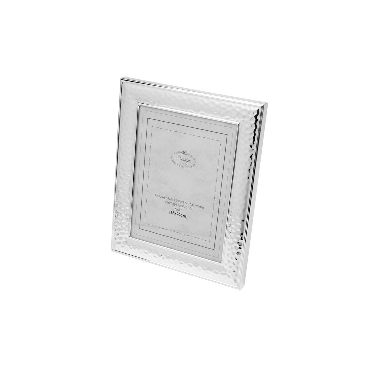 Porta Retrato Prateado de Aço 20x25
