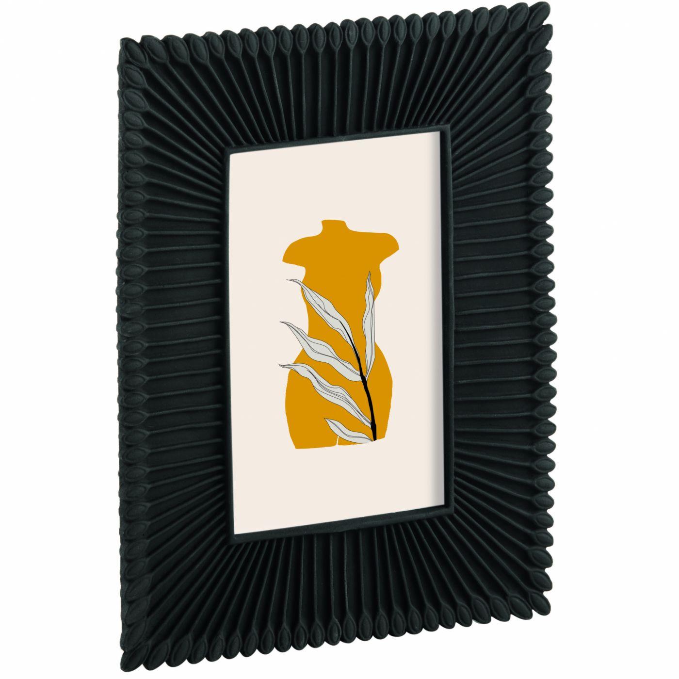Porta Retrato Preto de Resina 10x15