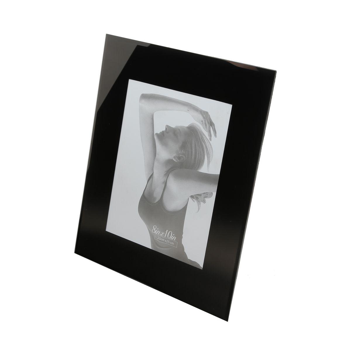 Porta Retrato Preto de Vidro 15x20
