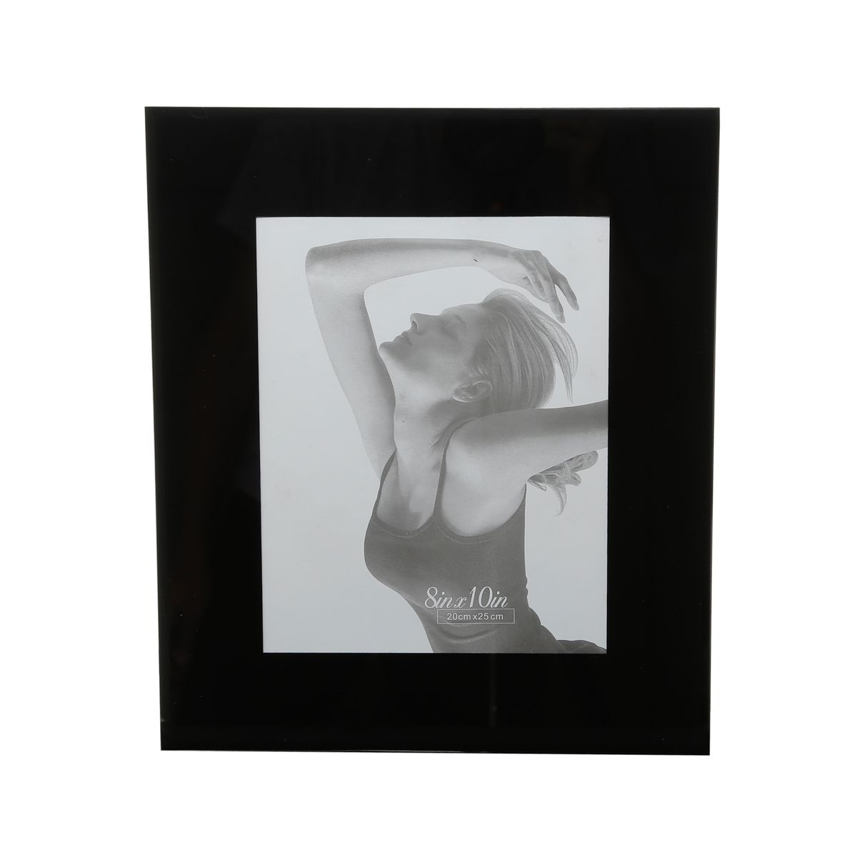 Porta Retrato Preto de Vidro 20x25