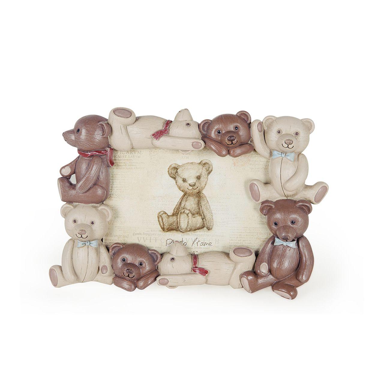Porta Retrato Ursos de Ceramica