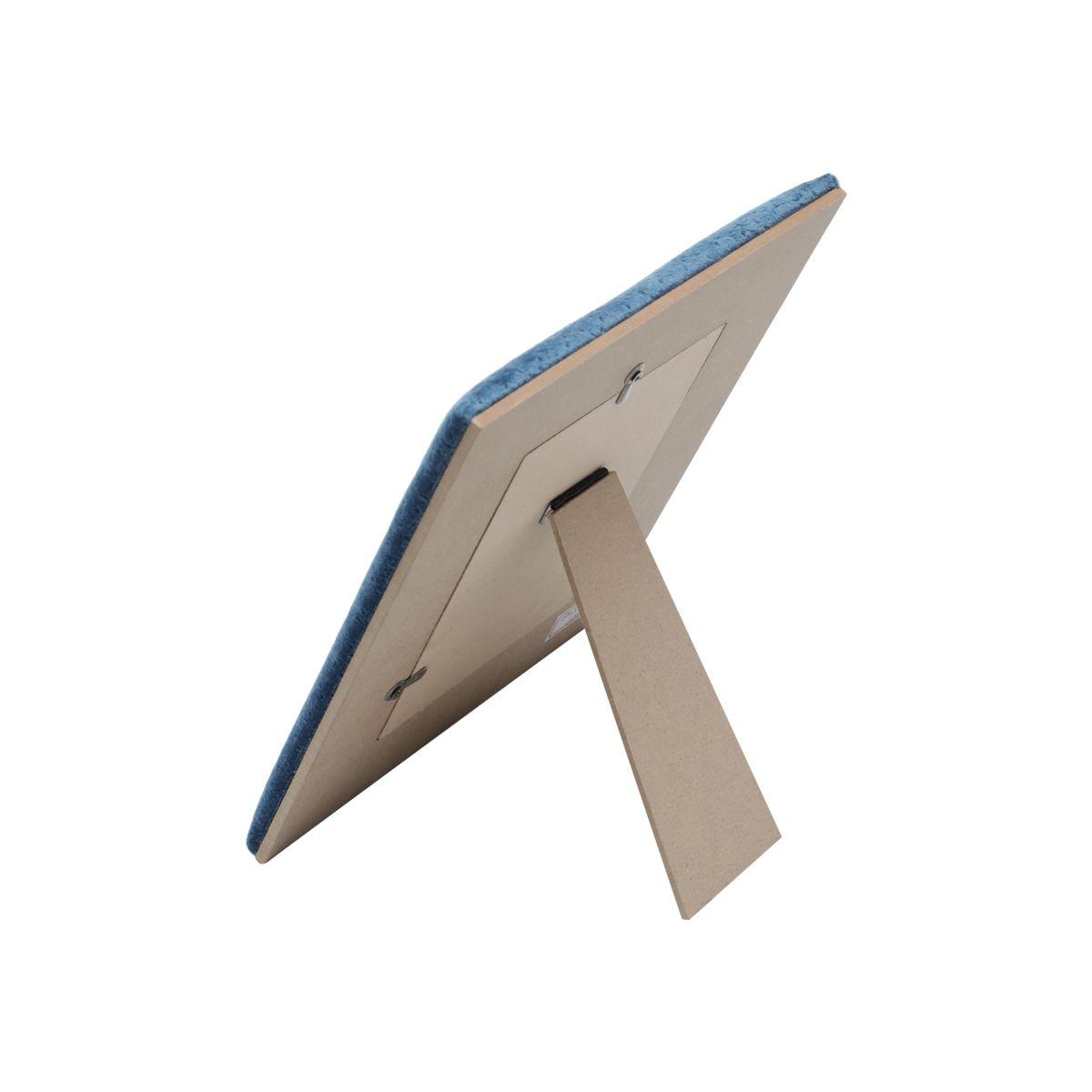 Porta Retrato Veludo Azul Marinho 10x15cm