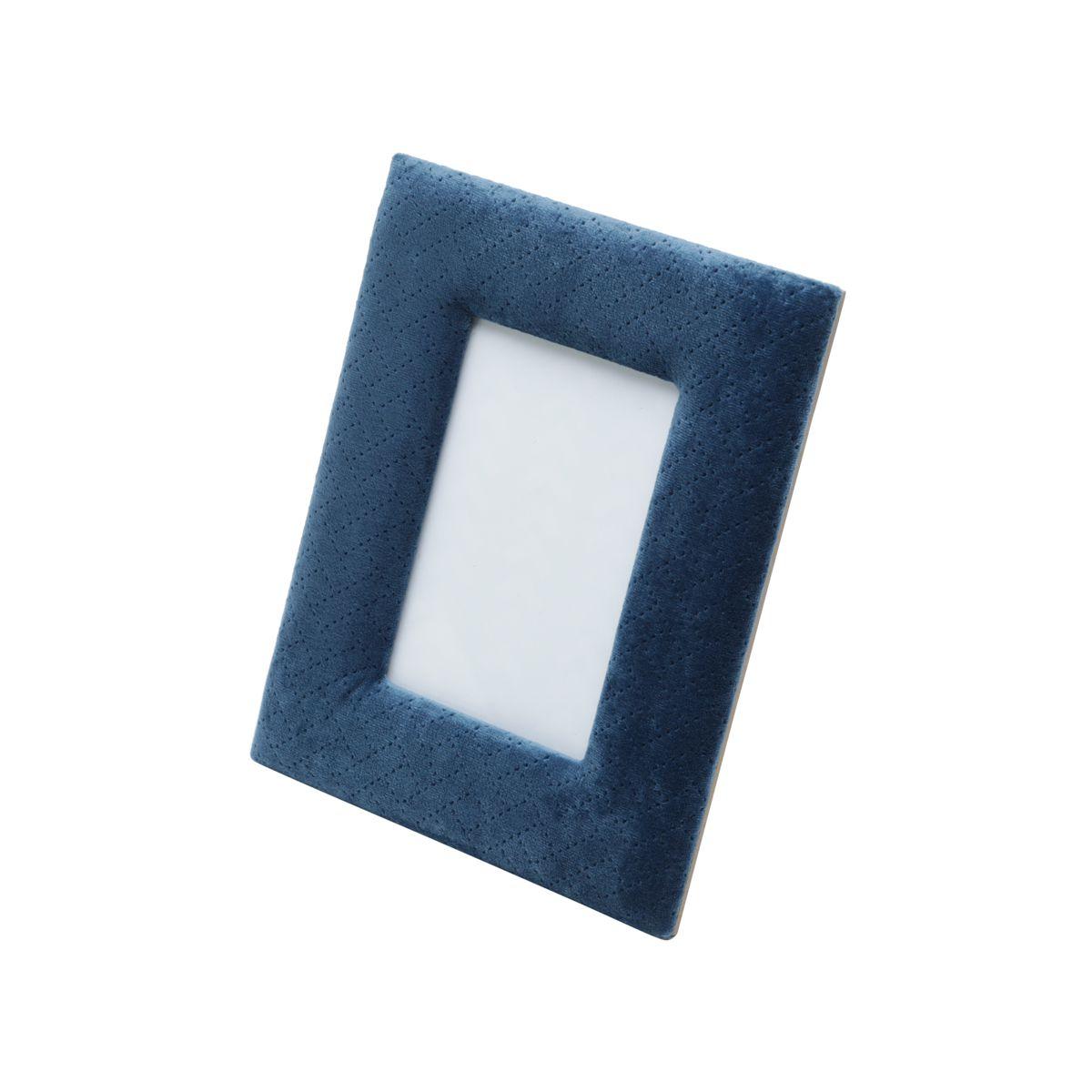 Porta Retrato Veludo Azul Marinho 13x18cm