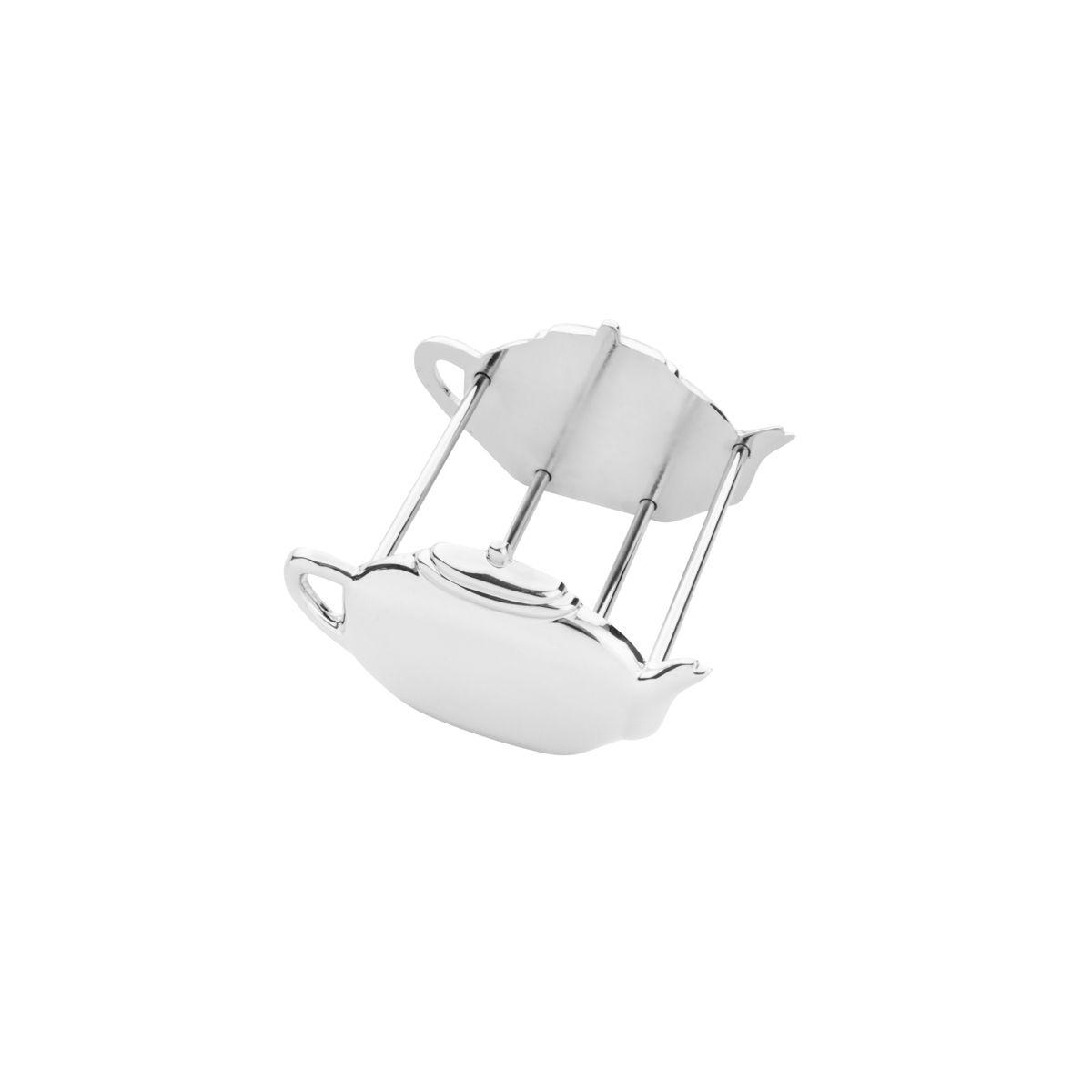 Porta Sache Teapot SIlver 7x8x5