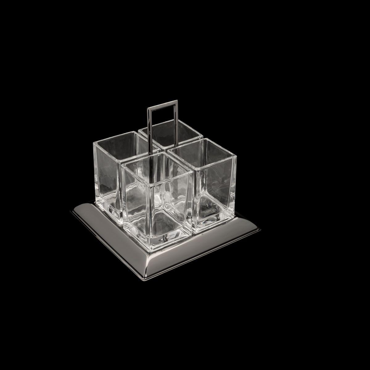 Porta Talheres de Cristal de Chumbo Black Torcello Wolff
