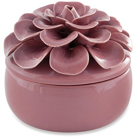 Pote Flor Marsala em Ceramica 10cm