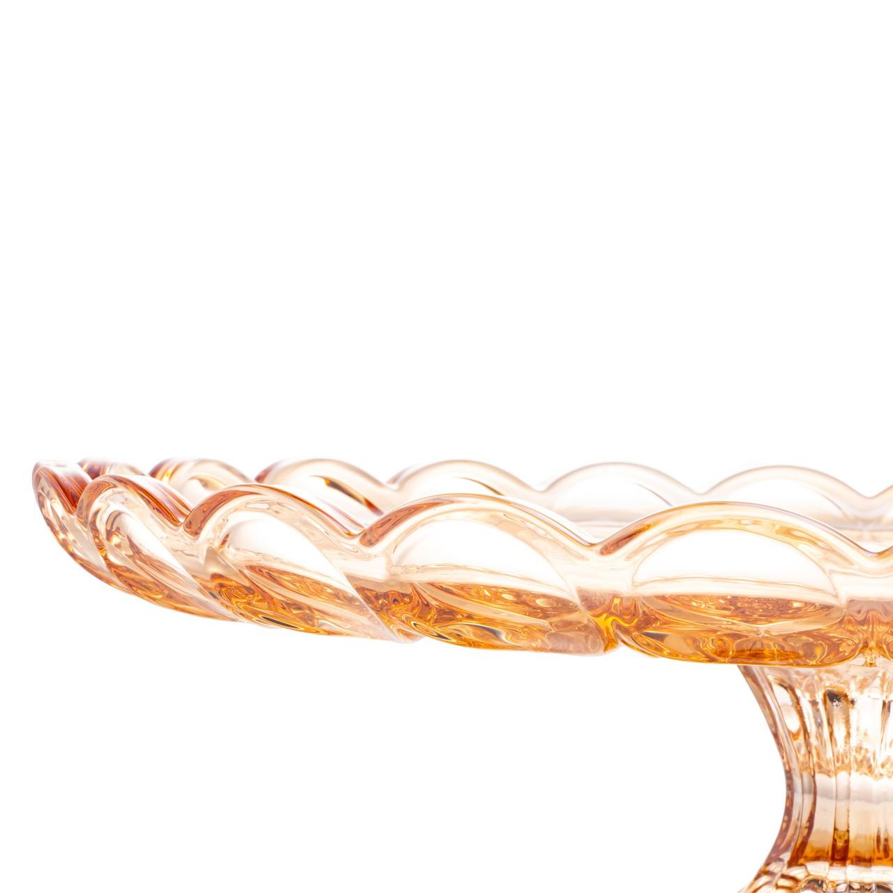Prato para Bolo De Cristal Angel Ambar 32x11cm Wolff