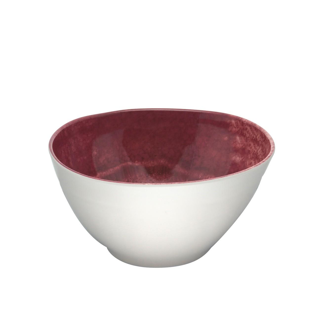 Saladeira Melamina Aqua - Vermelha 25 cm