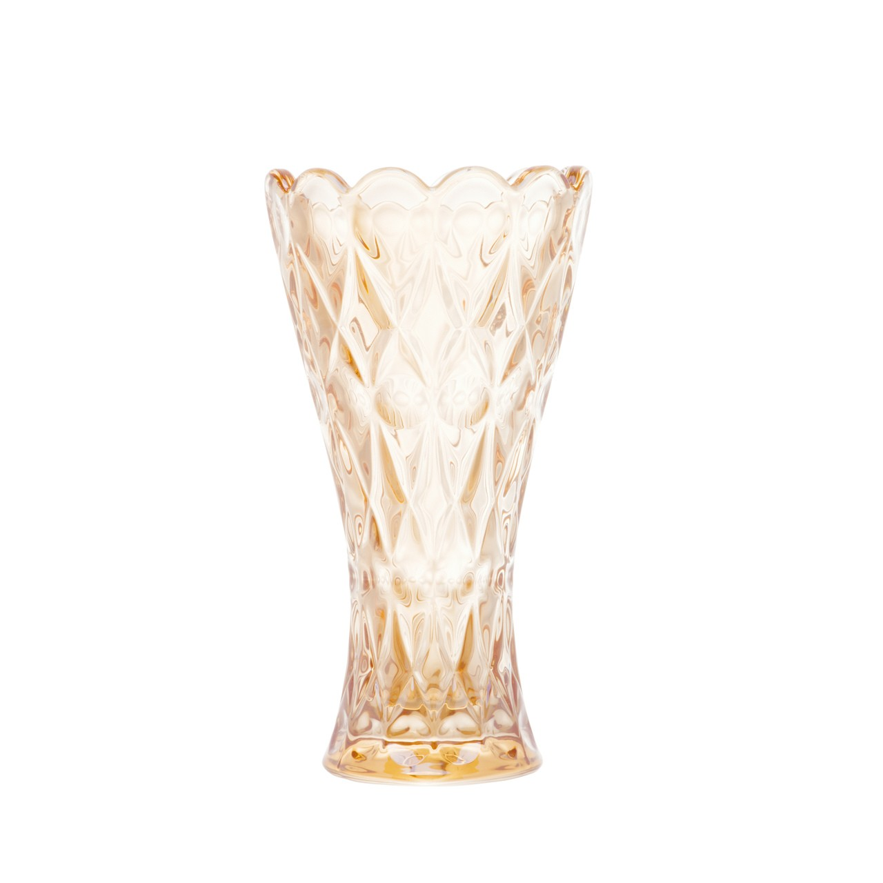 Vaso de Cristal Angel Ambar Wolff - 14 cm