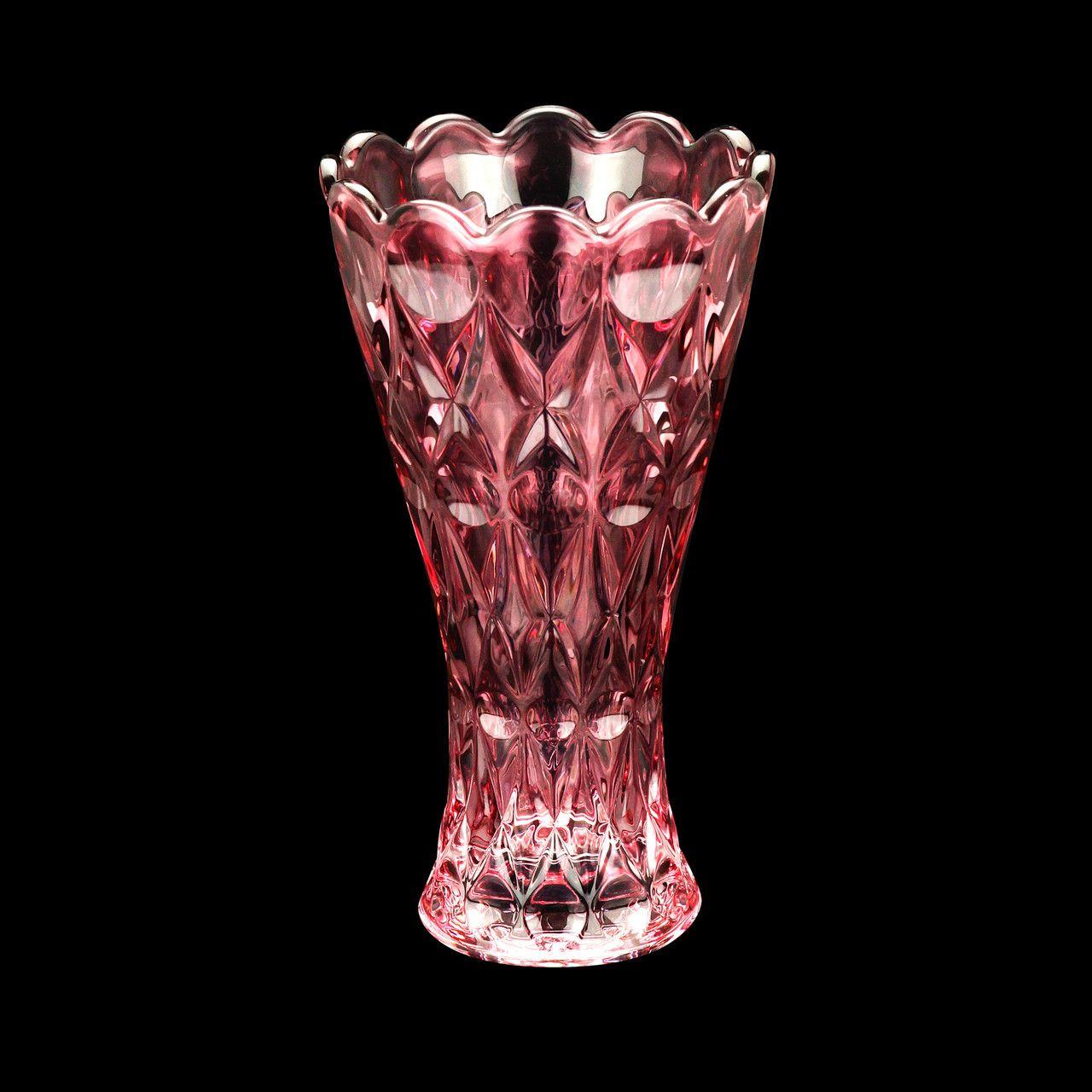 Vaso de Cristal Angel Rosa Wolff 25cm