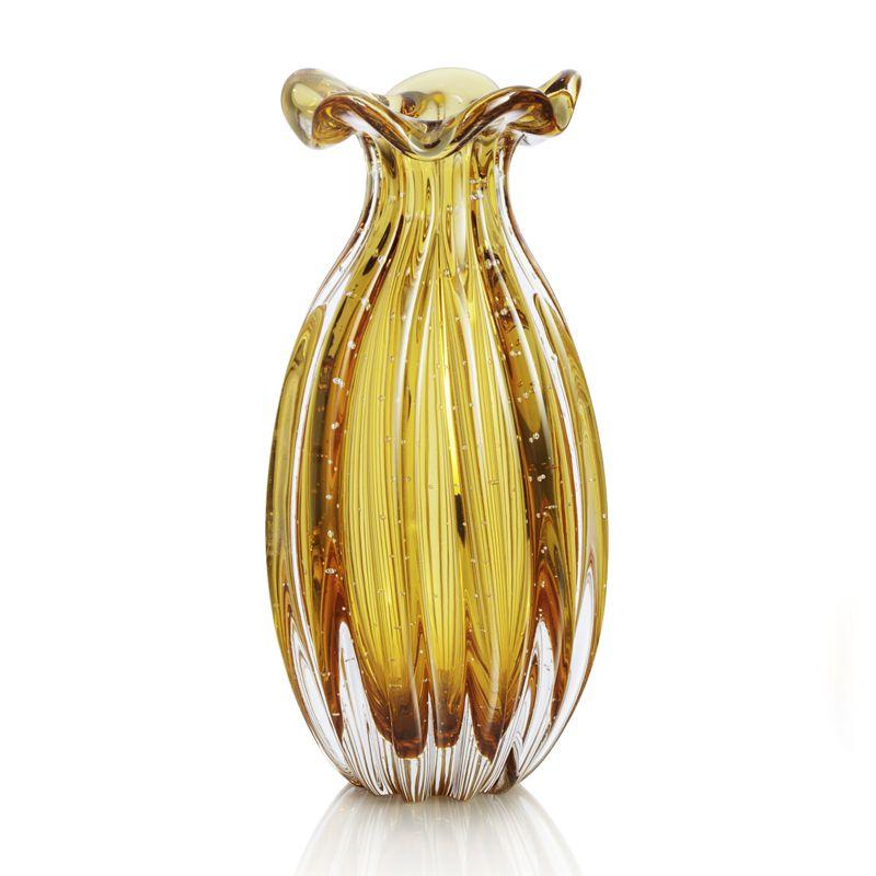 Vaso de Murano Trouxinha Ambar 22cm
