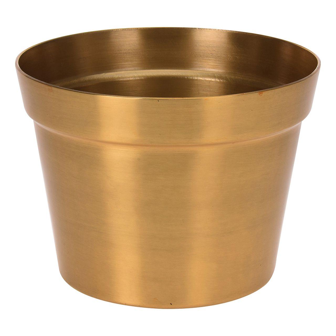 Vaso Dourado de Alumínio 13cm