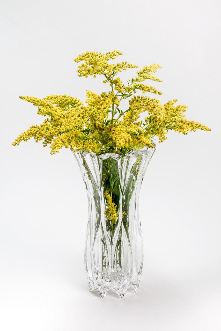 Vaso Louise Transparente de Cristal Wolff 10x20cm