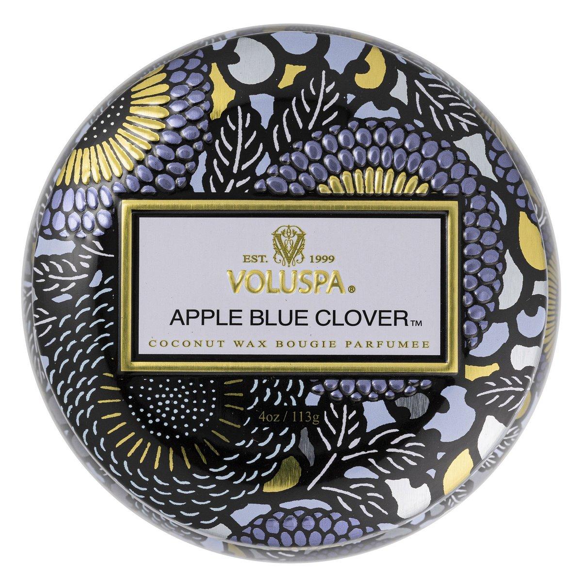 Vela Voluspa Lata Apple Blue Clover 25H