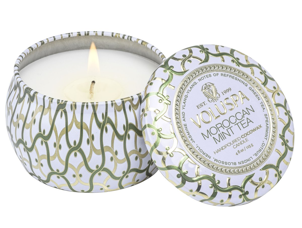 Vela Voluspa Lata Moroccan Mint Tea 25H