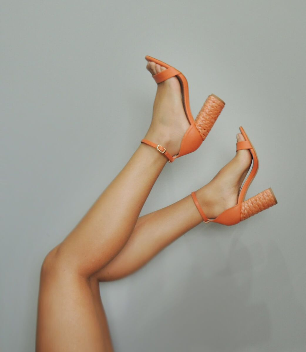Sandália Salto Palha