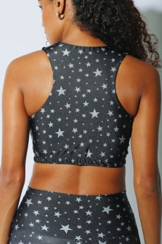 Top Cropped Silver Stars