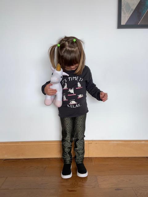 Legging Infantil Baby Onça Verde