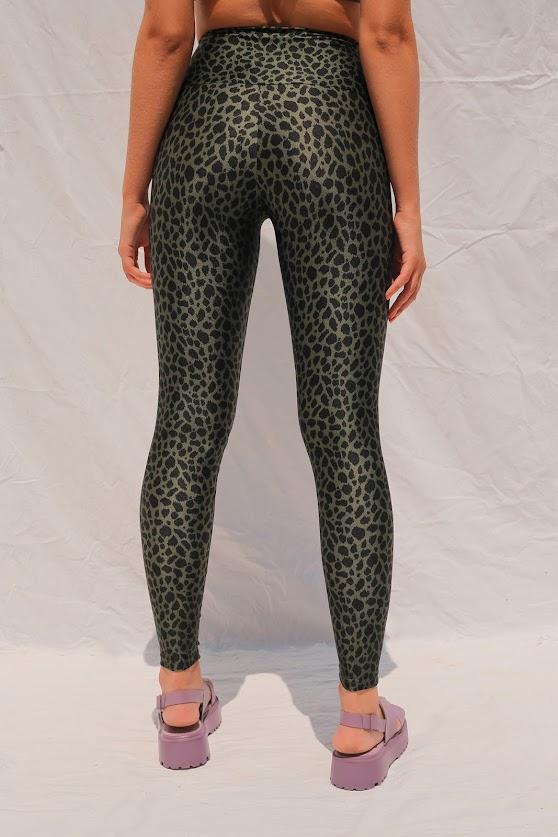Legging Lycra Leopardo Verde