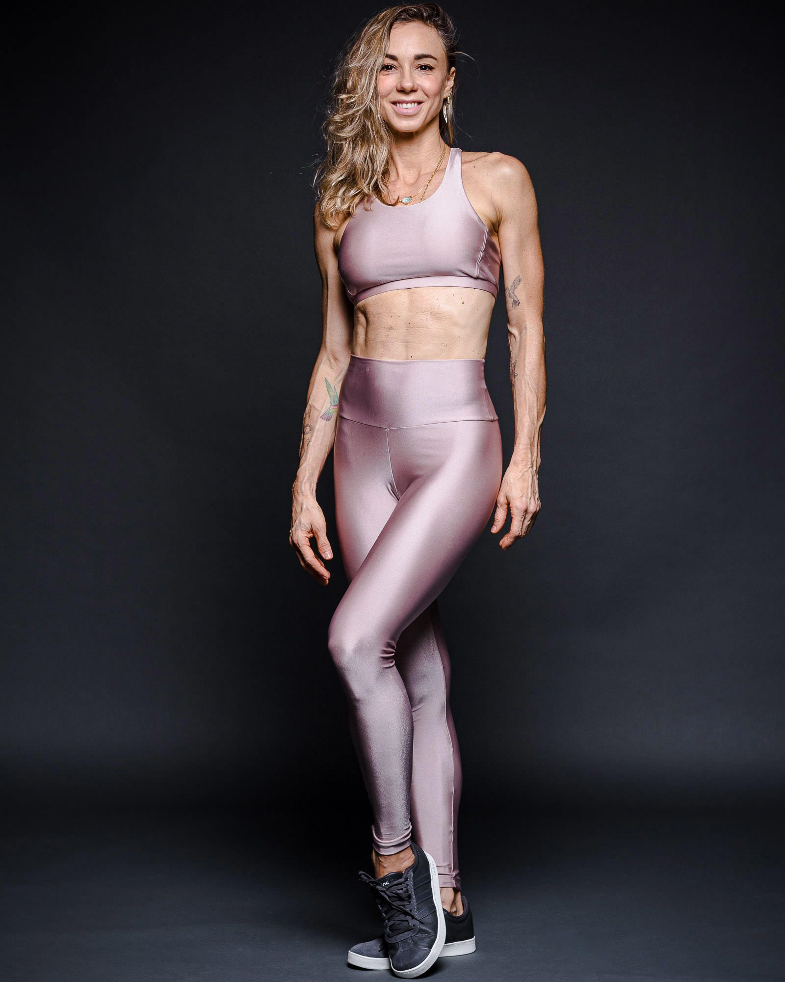 Legging Lycra Ouro Rosa