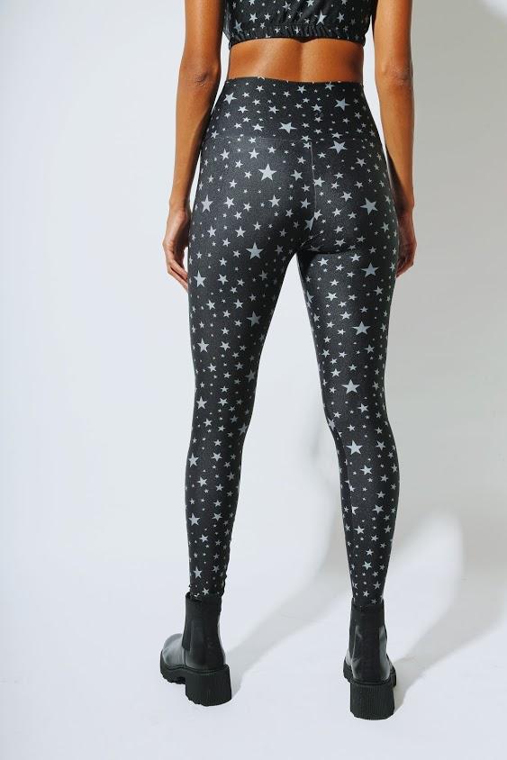 Legging Lycra Silver Stars