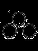 Kit - ANEL DE VEDAÇÃO EPDM - Para tubo sifão (20 Unidades)