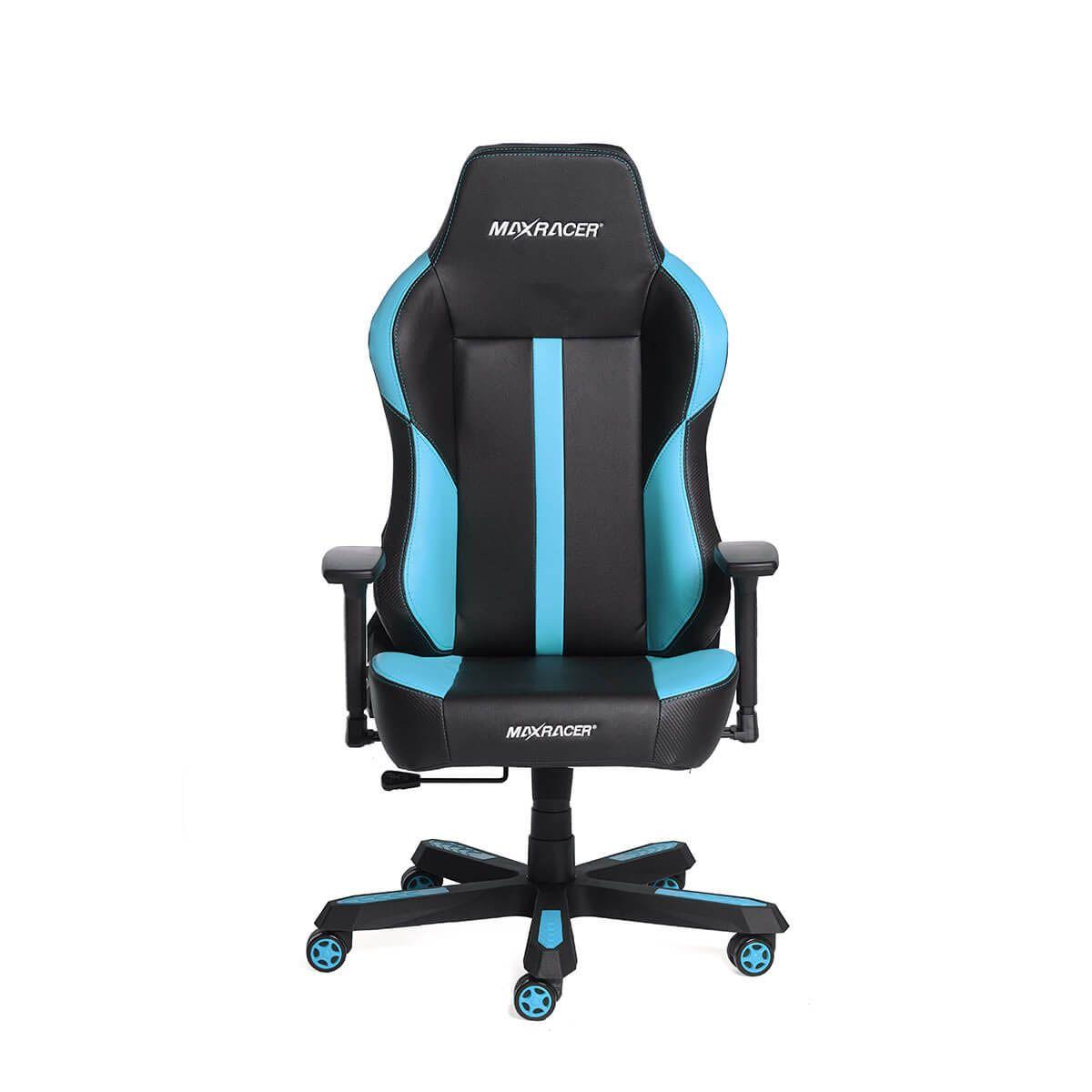 Cadeira Gamer MaxRacer Profissional Bomber Azul