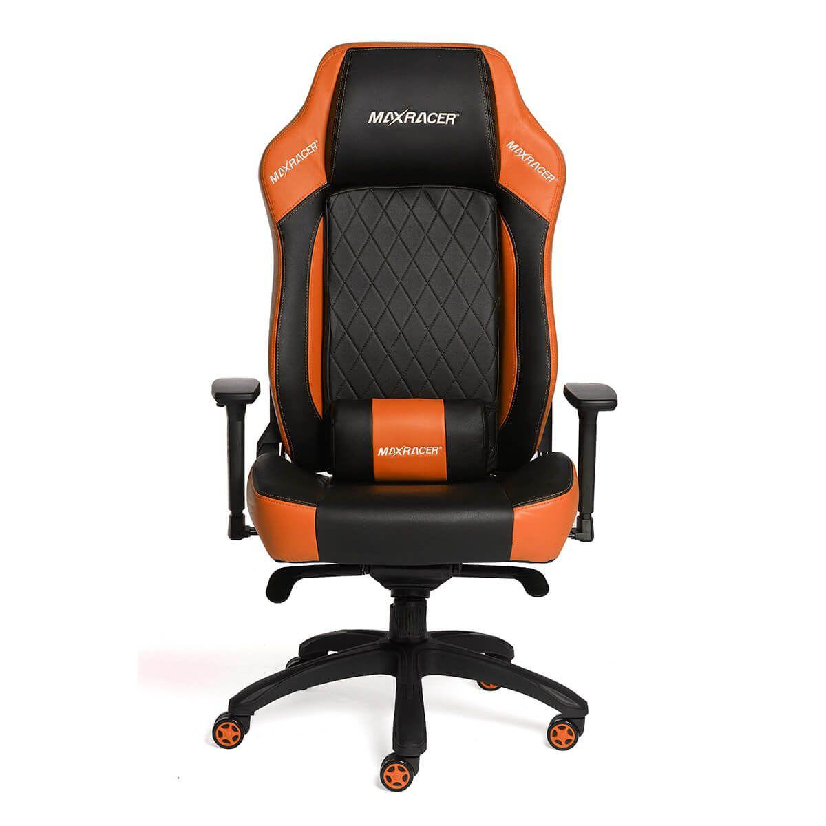 Cadeira Gamer MaxRacer Profissional Bunker Laranja