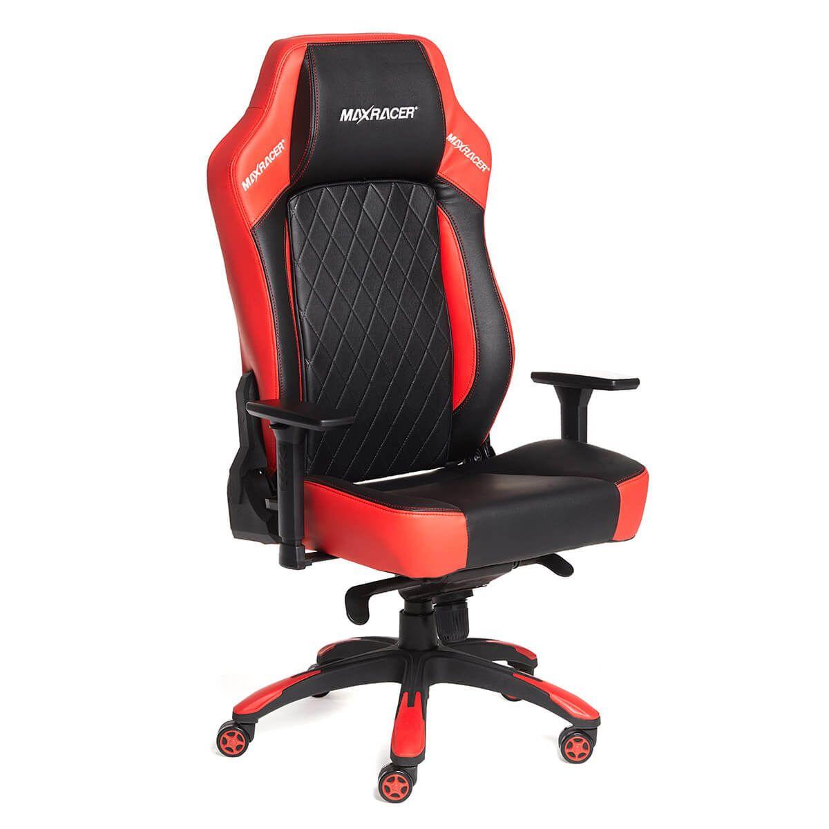 Cadeira Gamer MaxRacer Profissional Bunker Vermelha