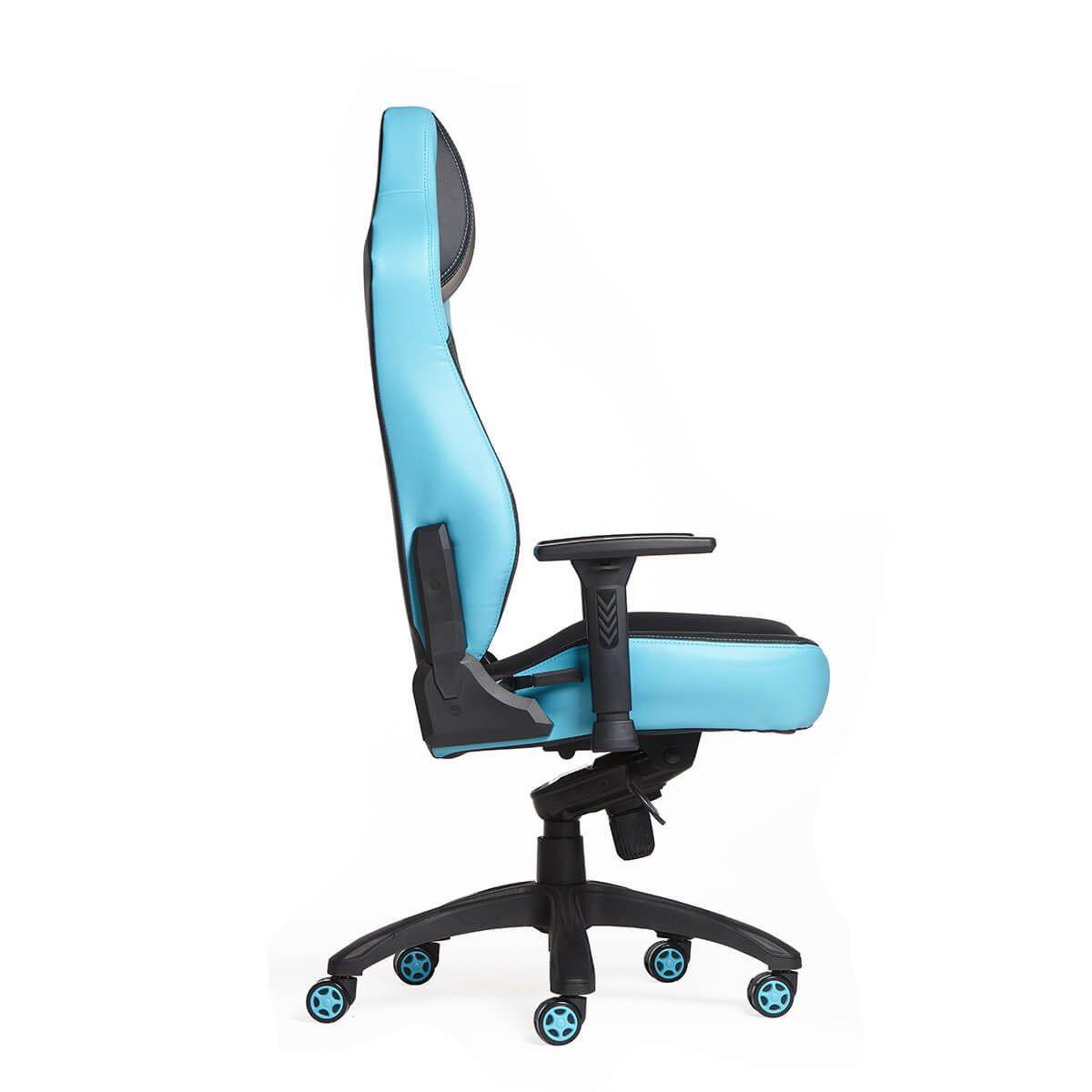 Cadeira Gamer MaxRacer Bunker Massagem SMI Regen Azul