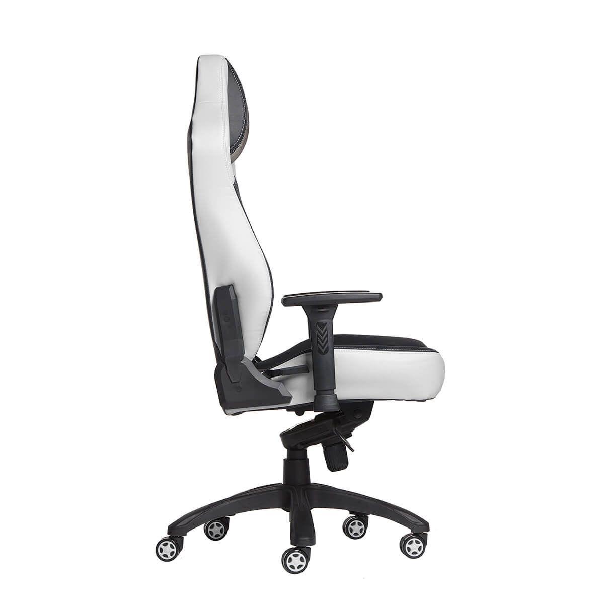 Cadeira Gamer MaxRacer Bunker Massagem SMI Regen Branca