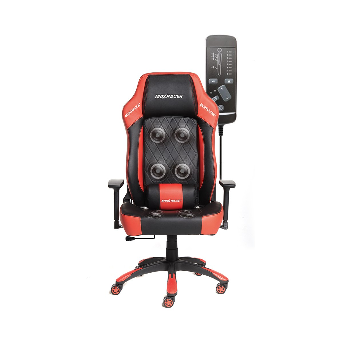 Cadeira Gamer MaxRacer Bunker Massagem SMI Regen Vermelha