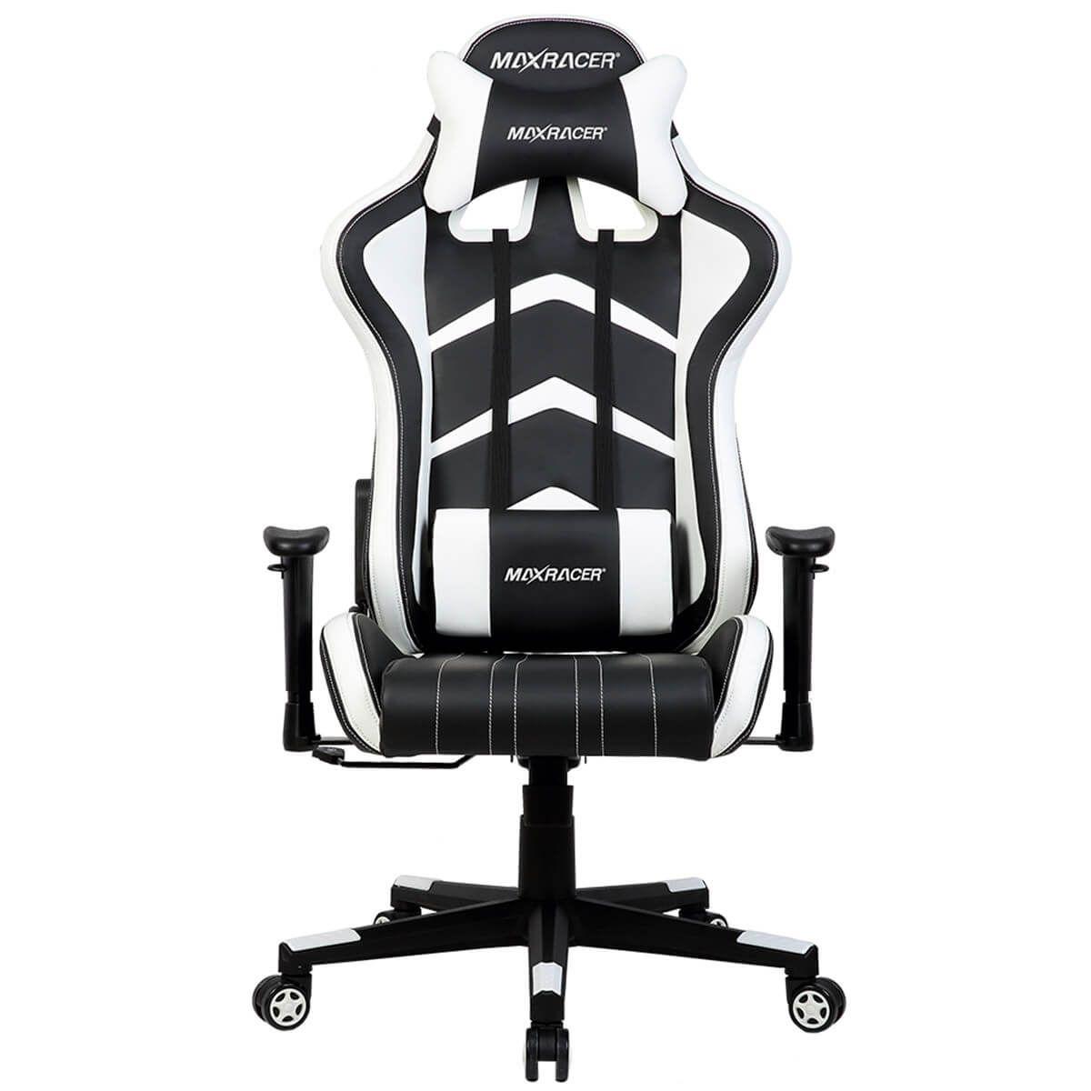 Cadeira Gamer MaxRacer Aggressive Branca