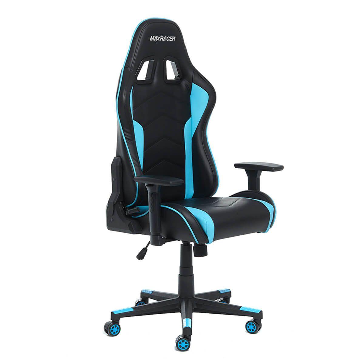 Cadeira Gamer MaxRacer Tactical Azul