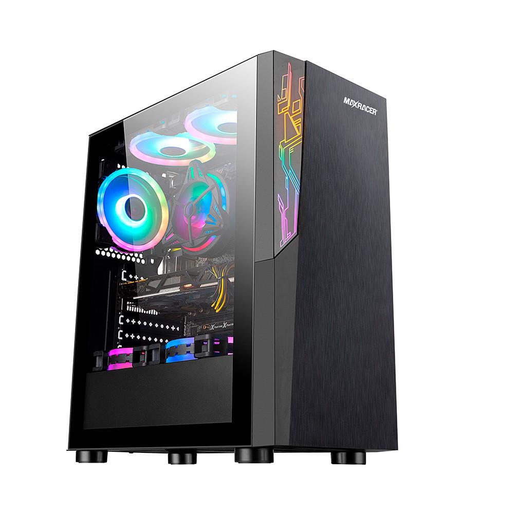 Gabinete Gamer MaxRacer Aggressive - RGB - Lateral de Vidro Temperado