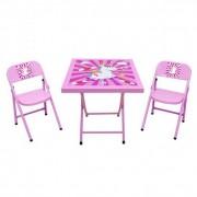 Mesa infantil c/ 2 cadeiras dobravel